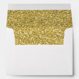 Golden Shimmer Glitter Envelopes