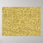 Golden Shimmer Glitter Poster