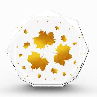 Golden Shimmer Maple Leaf Acrylic Award