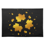 Golden Shimmer Maple Leaf Cloth Place Mat