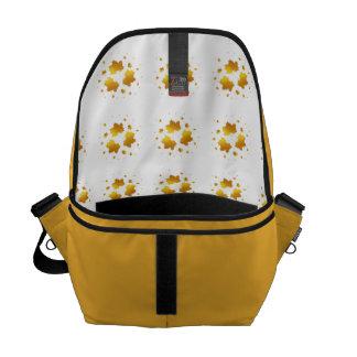 Golden Shimmer Maple Leaf Messenger Bag