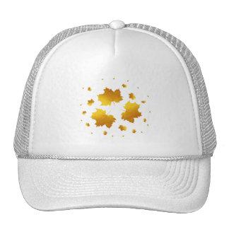 Golden Shimmer Maple Leaf Trucker Hat