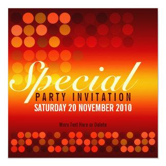 Golden Shine Special Party Invitation