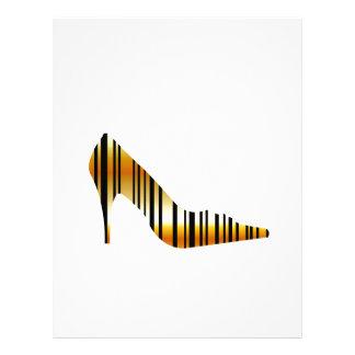 Golden shoe with strips letterhead