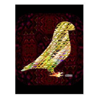 Golden Show Racer Pigeon Postcard
