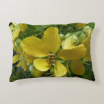 Golden Shower Tree Tropical Yellow Flowers Accent Pillow