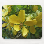 Golden Shower Tree Tropical Yellow Flowers Mouse Pad