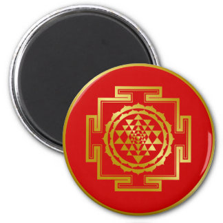 Golden Shree Yantra Magnet