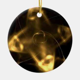 Golden Shuriken Ceramic Ornament