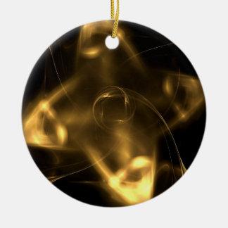 Golden Shuriken Christmas Ornament