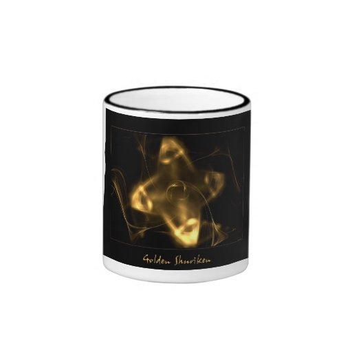 Golden Shuriken Ringer Coffee Mug