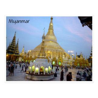 golden shwedagon post card