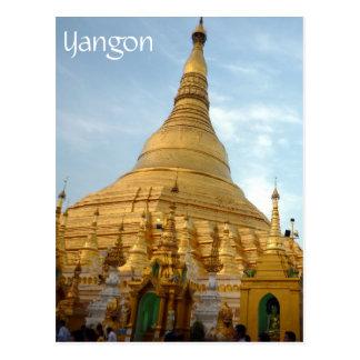 golden shwedagon yangon postcards