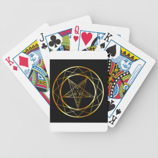 Golden sigil of Baphomet Bicycle Playing Cards