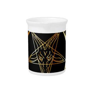 Golden sigil of Baphomet Drink Pitchers