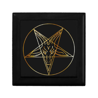 Golden sigil of Baphomet Gift Box