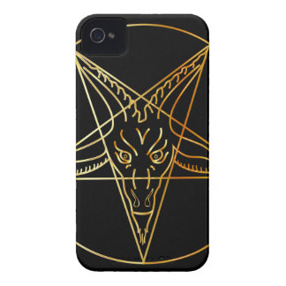 Golden sigil of Baphomet iPhone 4 Cover
