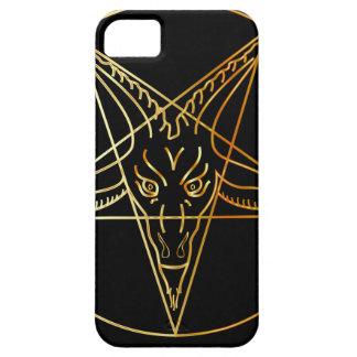 Golden sigil of Baphomet iPhone SE/5/5s Case