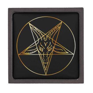 Golden sigil of Baphomet Keepsake Box