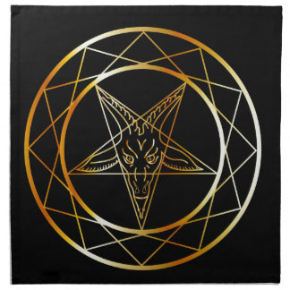 Golden sigil of Baphomet Napkin