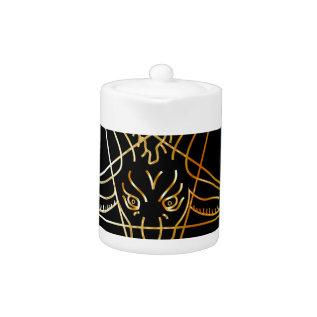 Golden Sigil Of Baphomet Teapot at Zazzle