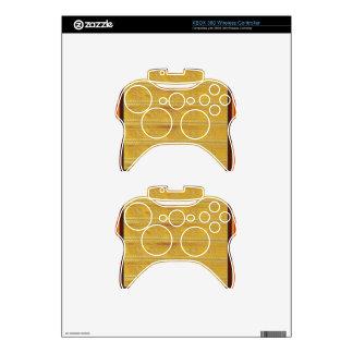 Golden Silk Fabric Template DIY add GREETING PHOTO Xbox 360 Controller Skins