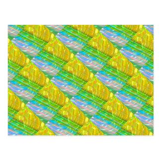 Golden Silk Silken Motif : Deco Decorative Gifts Post Cards