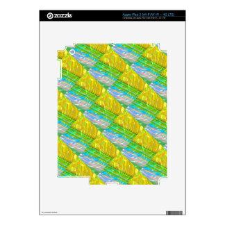 Golden Silk Silken Motif : Deco Decorative Gifts Skin For iPad 3