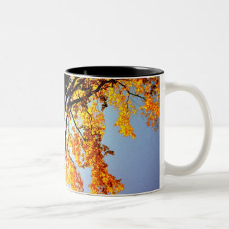 golden sillhouette Two-Tone coffee mug