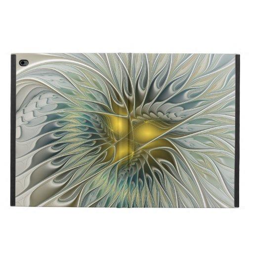Golden Silver Flower Fantasy abstract Fractal Art Powis iPad Air 2 Case