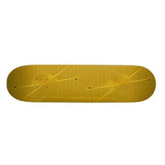 Golden Custom Skate Board