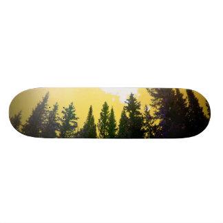 Golden skies skateboard