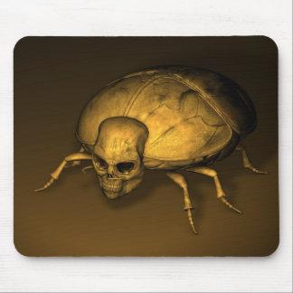 Golden Skull Bug Mouse Pads