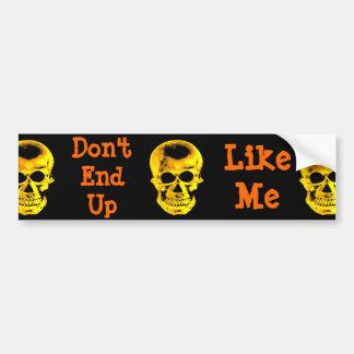 Golden Skull Bumper Sticker