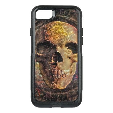 Golden skull OtterBox commuter iPhone 8/7 case