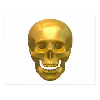 Golden Skull Postcard
