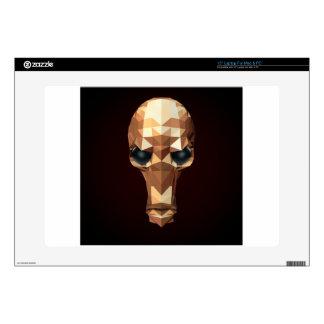 Golden Skull Decal For Laptop