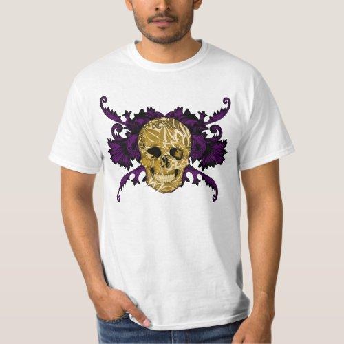 Golden skull T_Shirt
