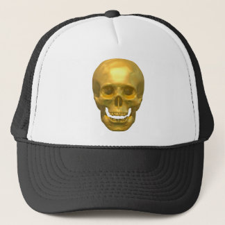 Golden Skull Trucker Hat