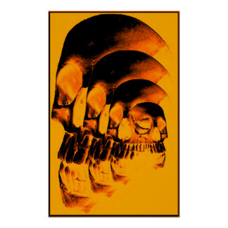 Golden skulls posters