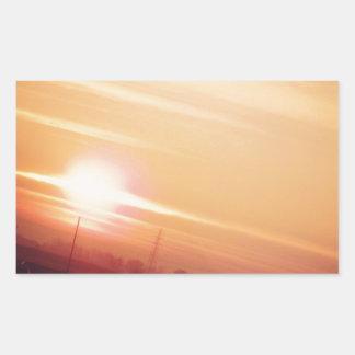 Golden sky rectangular sticker