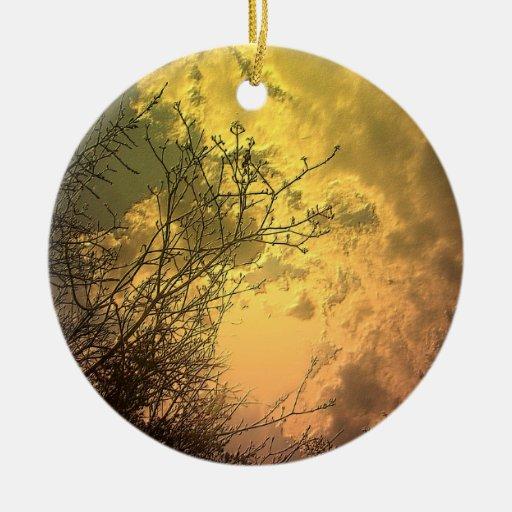 Golden Sky Scape:  Toronto Centre Island Ornament
