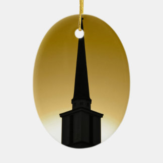 Golden Sky Steeple Ceramic Ornament