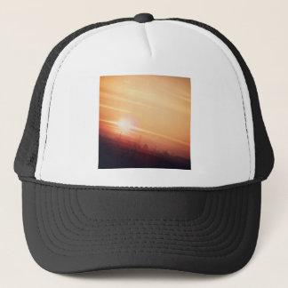 Golden sky trucker hat