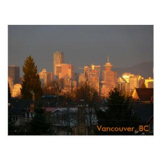 Golden Skyline, Vancouver BC Postcard