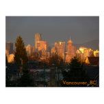 Golden Skyline, Vancouver BC Postcards
