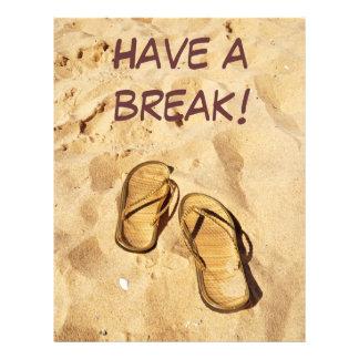 golden slippers on the beach flyer