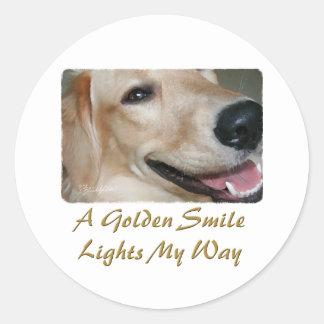 Golden Smile Classic Round Sticker