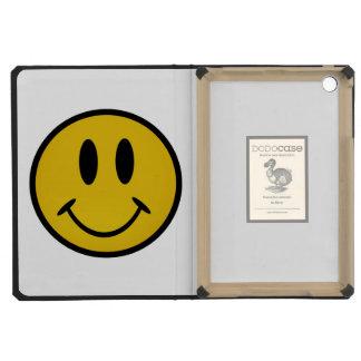 Golden smiley face iPad mini retina cases