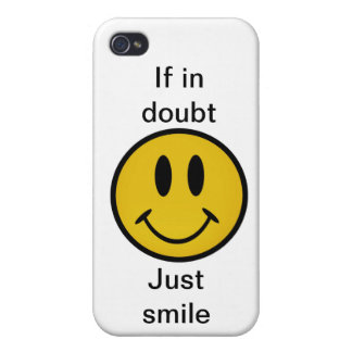 Golden smiley face iPhone 4 covers